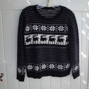 POL Deer Sweater Navy Blue Small